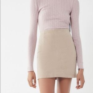 Urban Outfitters NWT Suede Mini Skirt Size Small